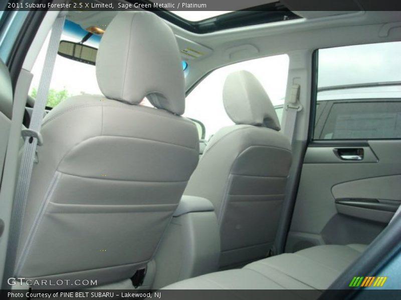 Sage Green Metallic / Platinum 2011 Subaru Forester 2.5 X Limited