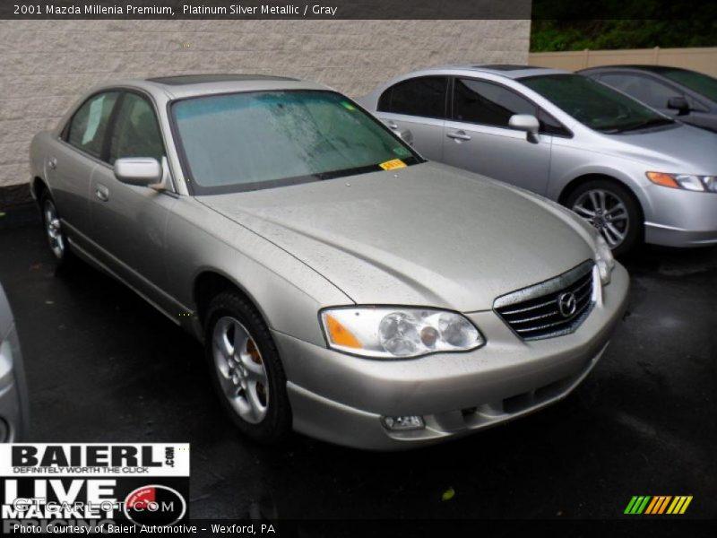 Platinum Silver Metallic / Gray 2001 Mazda Millenia Premium