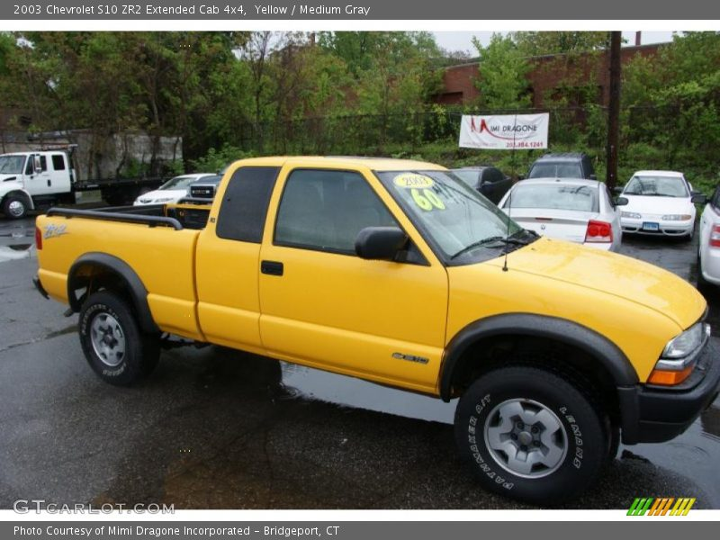 2003 chevrolet s10 zr2 extended cab 4x4 in yellow photo no 49605361. Black Bedroom Furniture Sets. Home Design Ideas