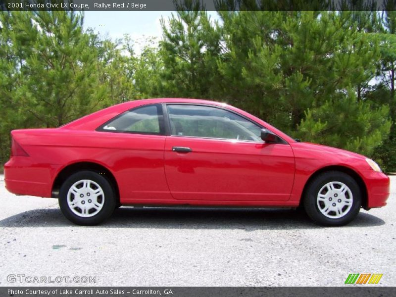 2001 honda civic lx coupe in rallye red photo no 49807173. Black Bedroom Furniture Sets. Home Design Ideas