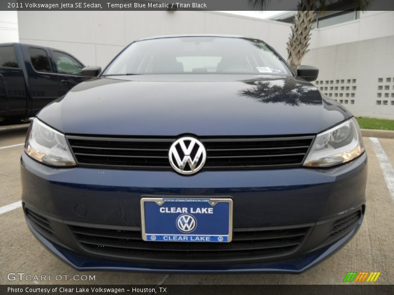 Tempest Blue Metallic / Titan Black 2011 Volkswagen Jetta SE Sedan