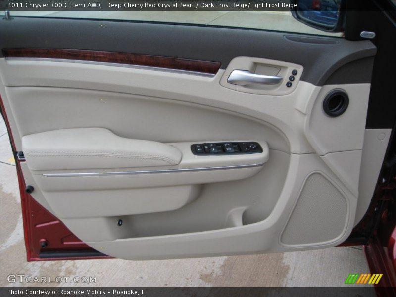 Deep Cherry Red Crystal Pearl / Dark Frost Beige/Light Frost Beige 2011 Chrysler 300 C Hemi AWD
