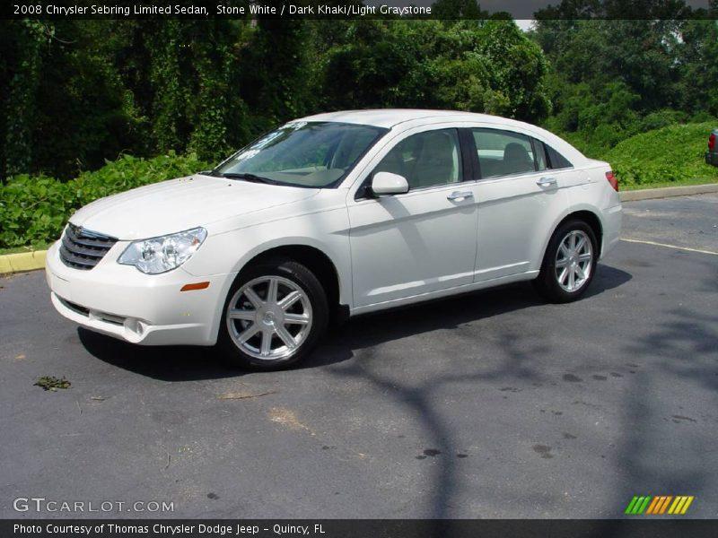 ... White / Dark Khaki/Light Graystone 2008 Chrysler Sebring Limited Sedan