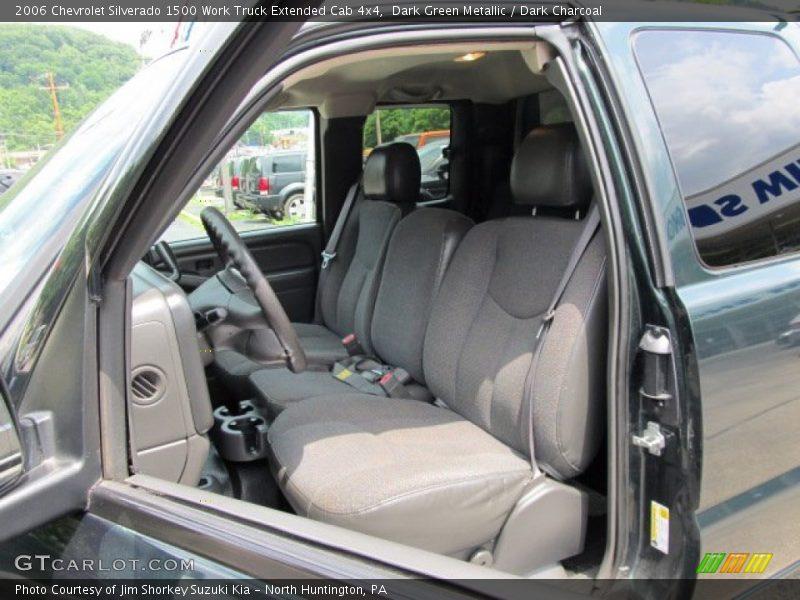 Dark Green Metallic / Dark Charcoal 2006 Chevrolet Silverado 1500 Work Truck Extended Cab 4x4
