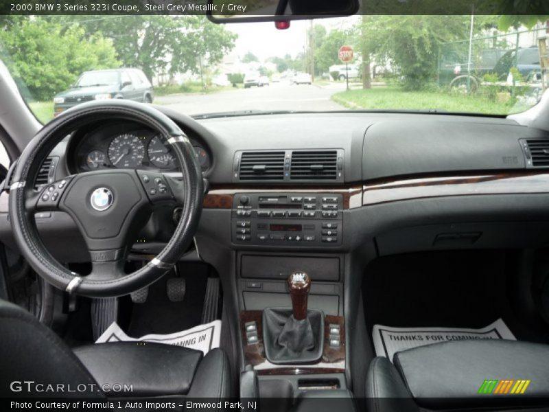 Steel Grey Metallic / Grey 2000 BMW 3 Series 323i Coupe