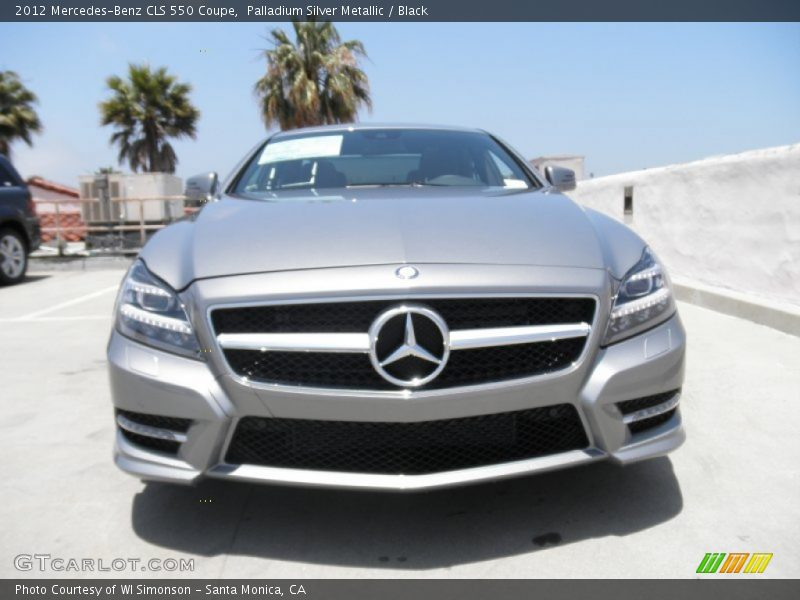 Palladium Silver Metallic / Black 2012 Mercedes-Benz CLS 550 Coupe