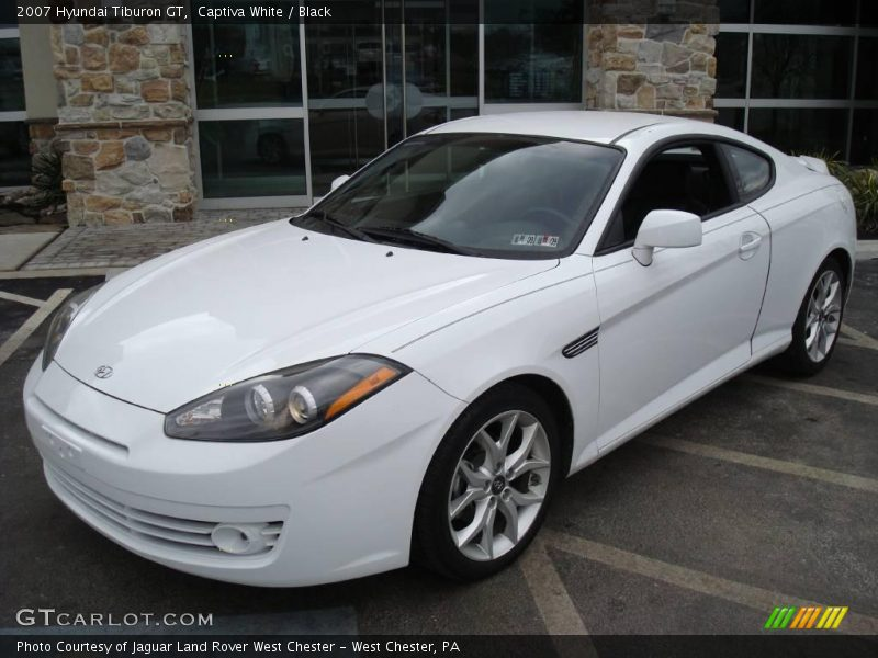 2007 hyundai tiburon gt in captiva white photo no 5106948. Black Bedroom Furniture Sets. Home Design Ideas