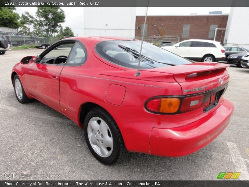 1992 toyota celica gt s coupe in super red photo no. Black Bedroom Furniture Sets. Home Design Ideas
