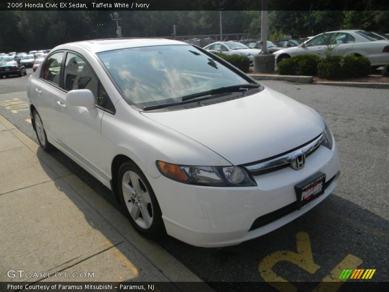 2006 honda civic ex sedan in taffeta white photo no 51623977. Black Bedroom Furniture Sets. Home Design Ideas