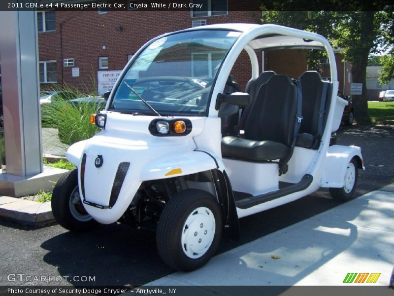 Front 3/4 View of 2011 e e4 4 Passenger Electric Car