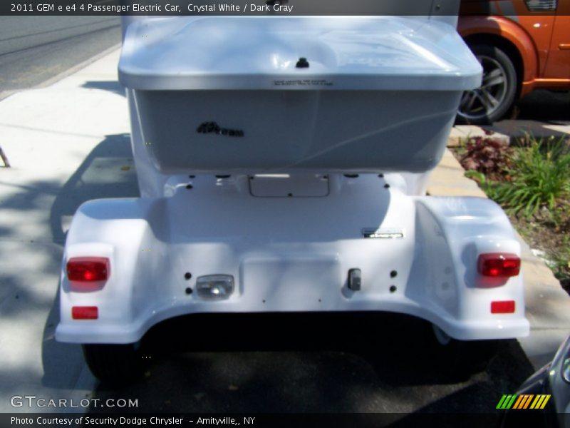 Crystal White / Dark Gray 2011 GEM e e4 4 Passenger Electric Car
