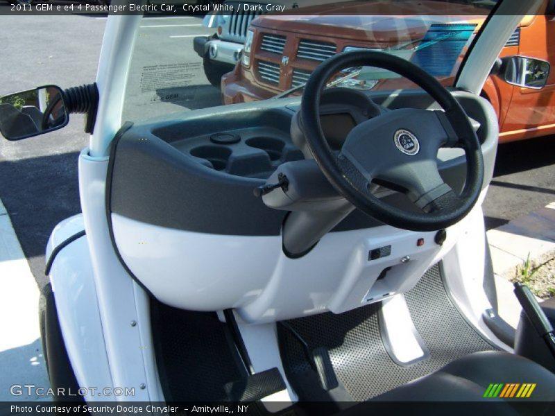 Controls of 2011 e e4 4 Passenger Electric Car