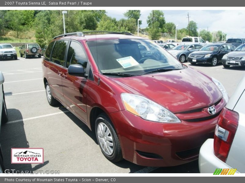 Salsa Red Pearl / Taupe 2007 Toyota Sienna LE