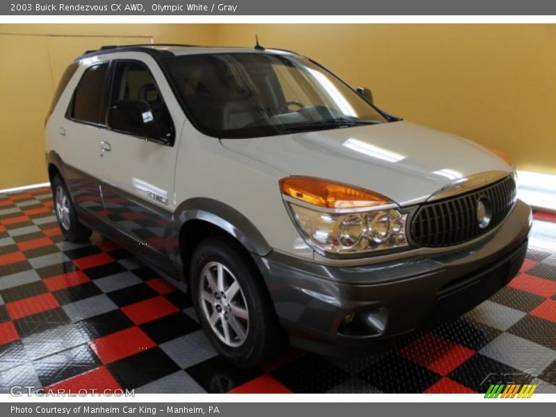 Olympic White / Gray 2003 Buick Rendezvous CX AWD