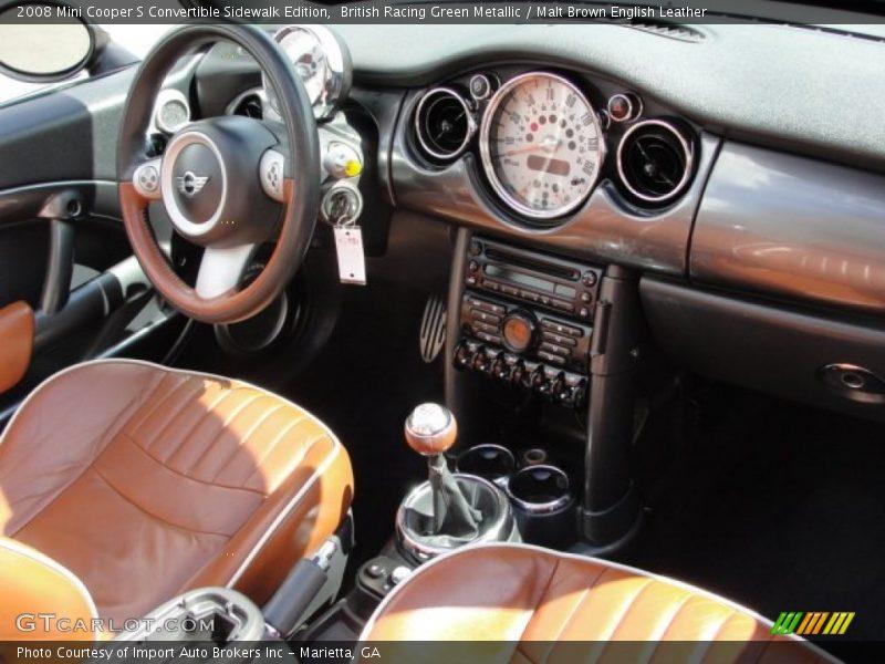 British Racing Green Metallic Malt Brown English Leather 2008 Mini Cooper S Convertible Sidewalk Edition