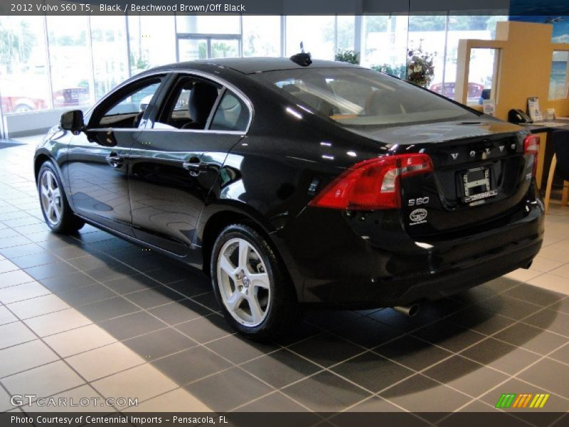Black / Beechwood Brown/Off Black 2012 Volvo S60 T5