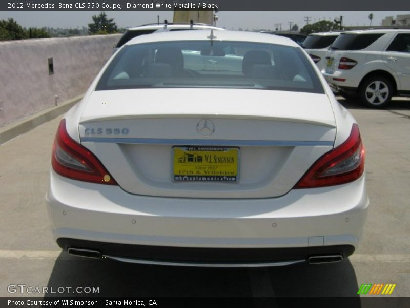 Diamond White Metallic / Black 2012 Mercedes-Benz CLS 550 Coupe