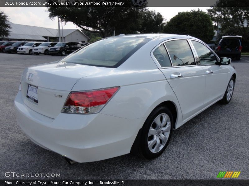 2010 honda accord ex l v6 sedan in white diamond pearl photo no 52618385. Black Bedroom Furniture Sets. Home Design Ideas