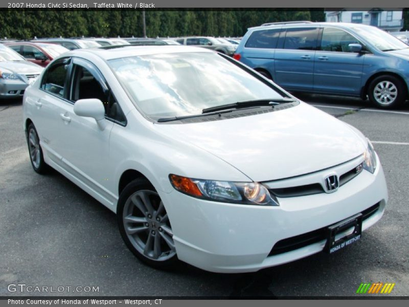 2007 honda civic si sedan in taffeta white photo no 52936356. Black Bedroom Furniture Sets. Home Design Ideas