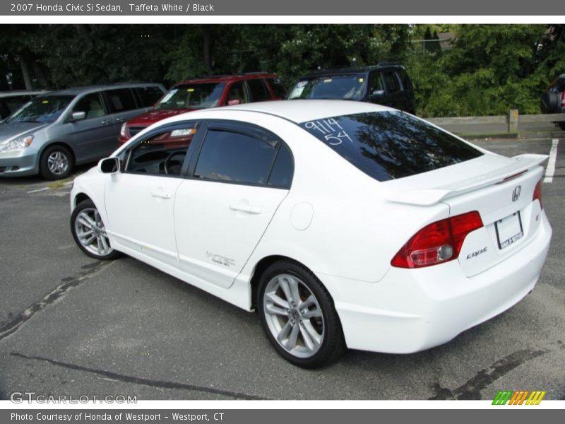 2007 honda civic si sedan in taffeta white photo no 52936452. Black Bedroom Furniture Sets. Home Design Ideas