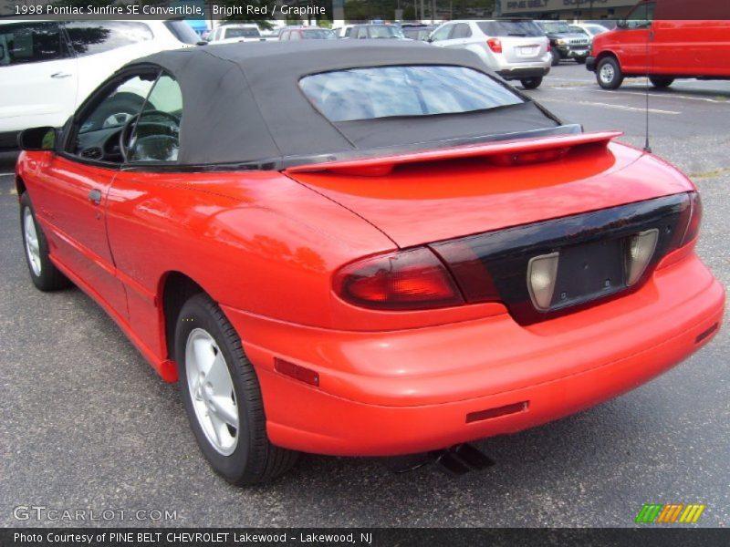 Bright Red / Graphite 1998 Pontiac Sunfire SE Convertible