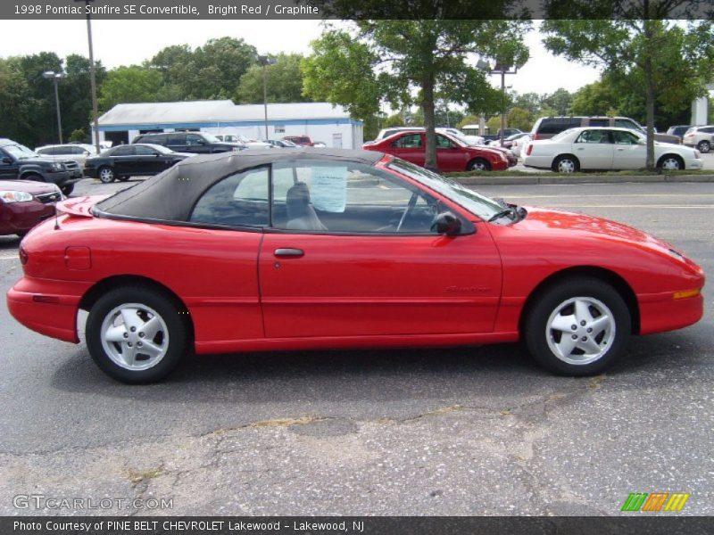 1998 Sunfire SE Convertible Bright Red
