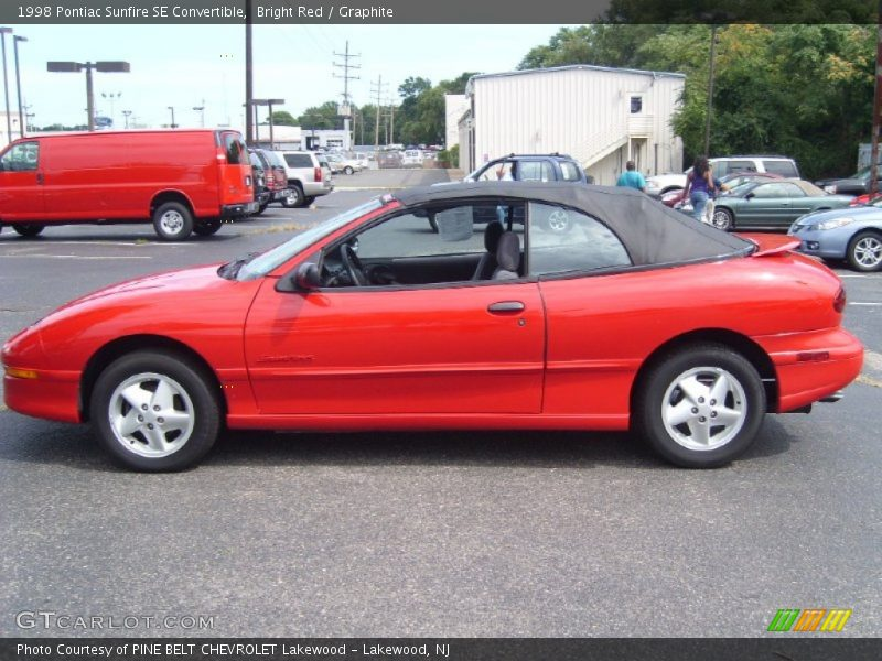 Bright Red / Graphite 1998 Pontiac Sunfire SE Convertible