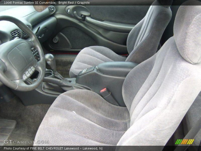 1998 Sunfire SE Convertible Graphite Interior