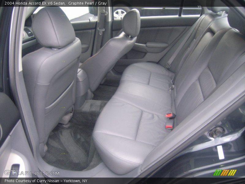 Graphite Pearl / Gray 2004 Honda Accord EX V6 Sedan