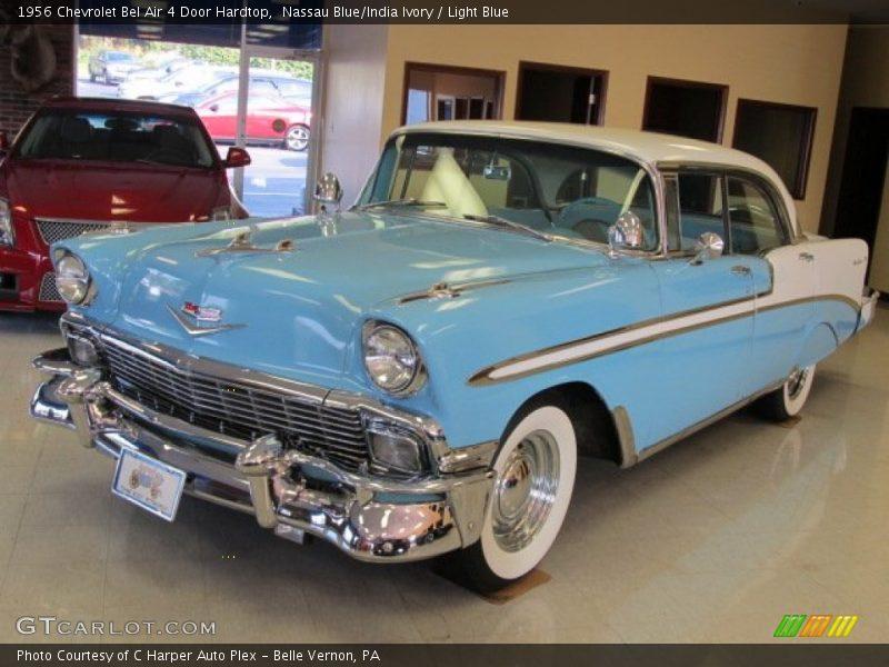 1956 chevrolet bel air 4 door hardtop in nassau blue india for 1956 chevrolet 4 door hardtop