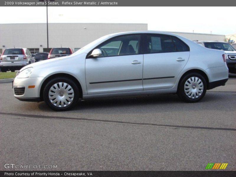 Reflex Silver Metallic / Anthracite 2009 Volkswagen Jetta S Sedan
