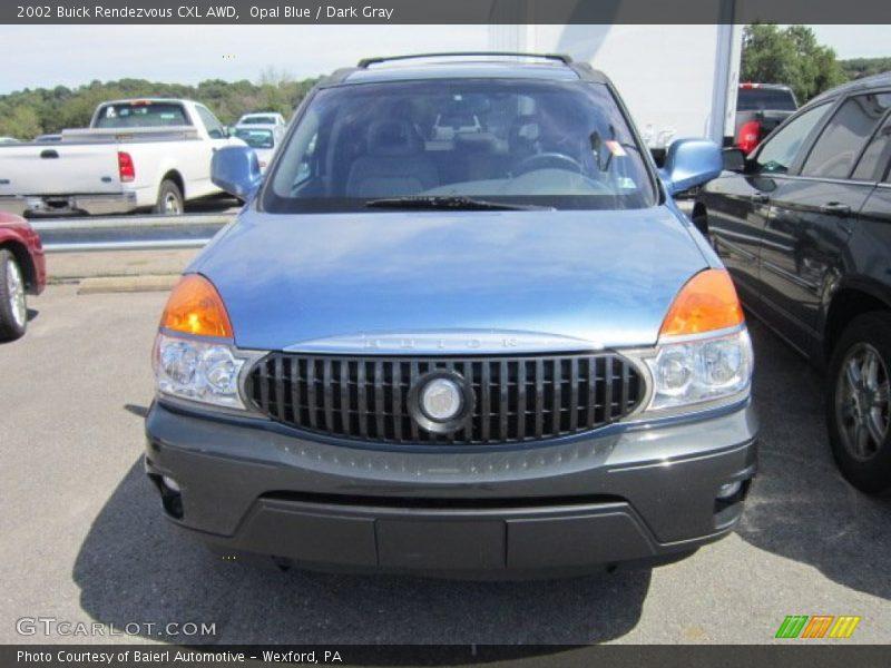 Opal Blue / Dark Gray 2002 Buick Rendezvous CXL AWD