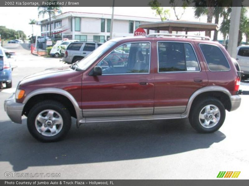 2002 Kia Sportage In Pepper Red Photo No 54058970