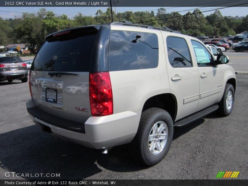 Gold Mist Metallic / Light Tan 2012 GMC Yukon SLE 4x4