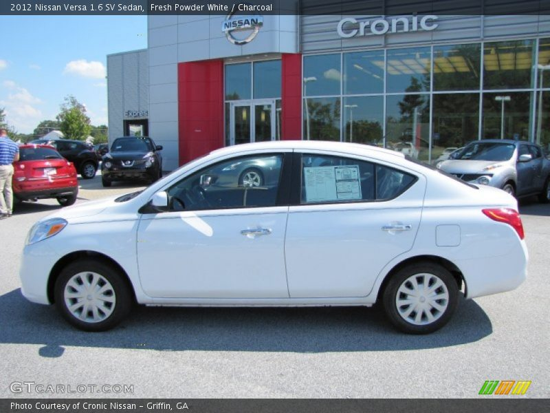 2012 nissan versa 1 6 sv sedan in fresh powder white photo no 54122154. Black Bedroom Furniture Sets. Home Design Ideas