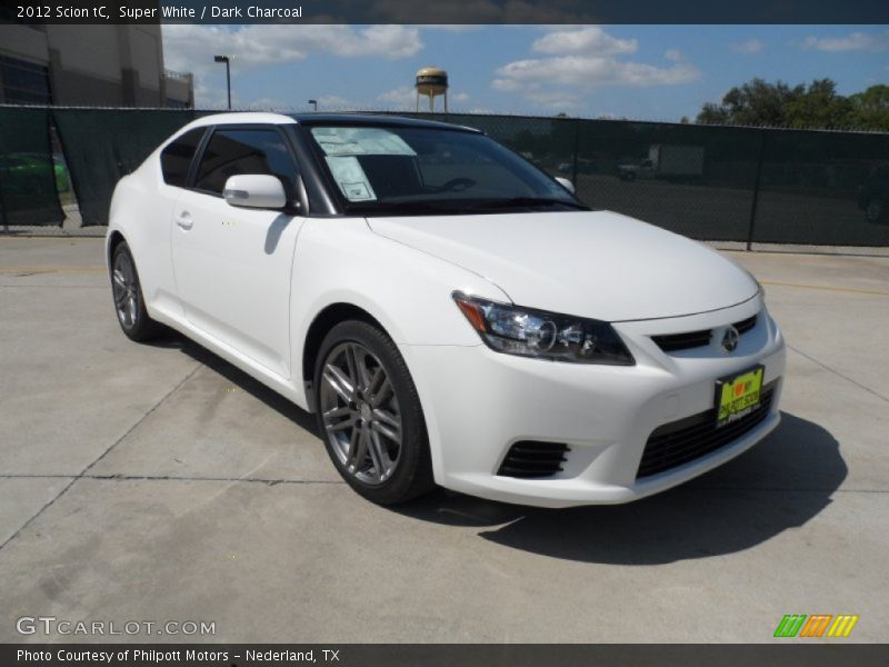Super White / Dark Charcoal 2012 Scion tC