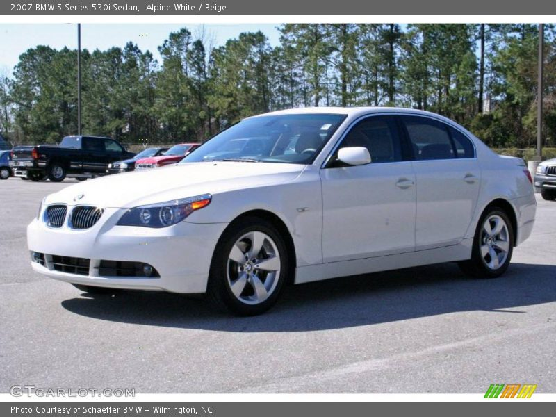 2007 bmw 5 series 530i sedan in alpine white photo no. Black Bedroom Furniture Sets. Home Design Ideas