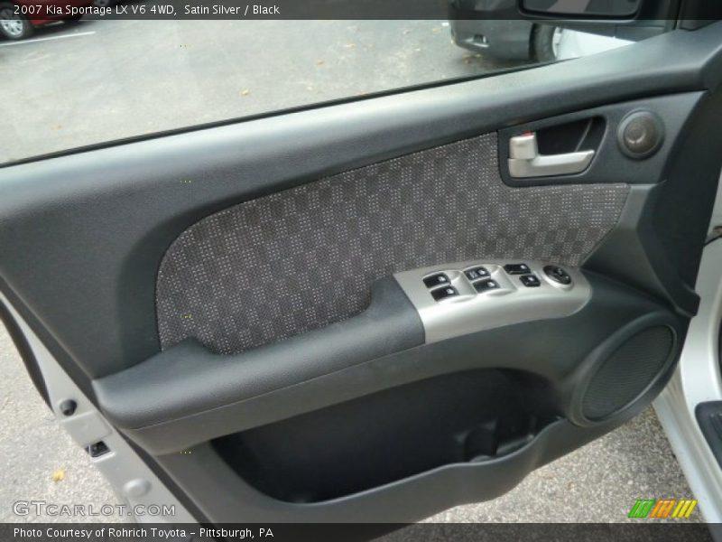 Satin Silver / Black 2007 Kia Sportage LX V6 4WD