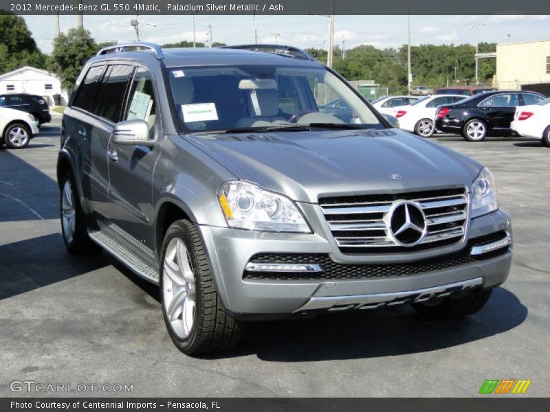Paladium Silver Metallic / Ash 2012 Mercedes-Benz GL 550 4Matic