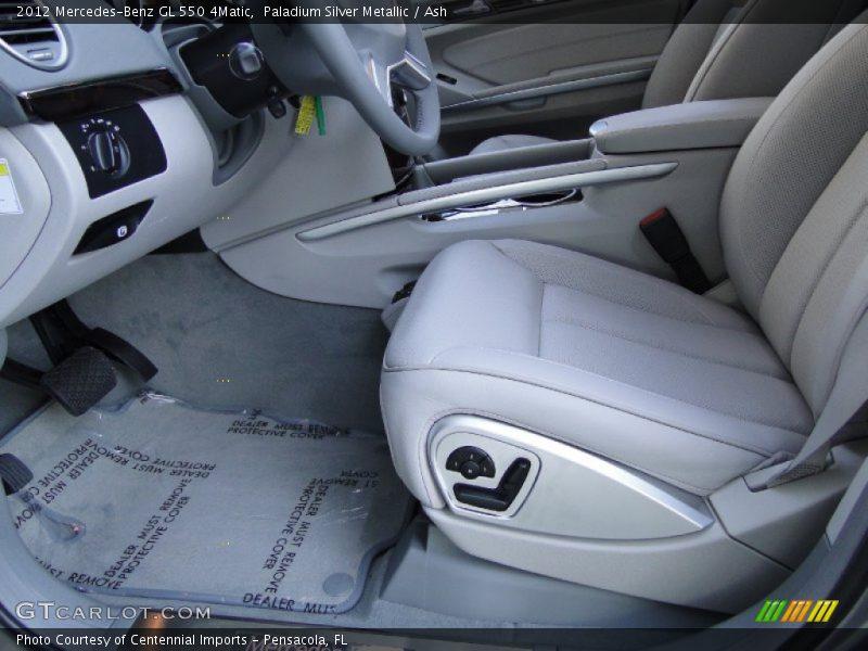 Paladium Silver Metallic / Ash 2012 Mercedes-Benz GL 550 4Matic