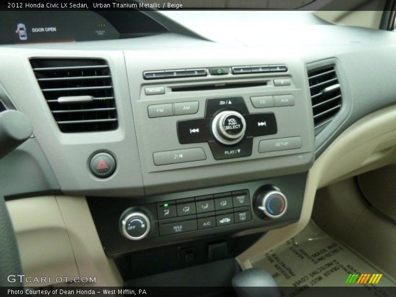 Controls of 2012 Civic LX Sedan