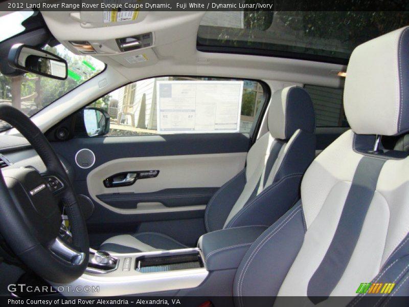 2012 Range Rover Evoque Coupe Dynamic Dynamic Lunar Ivory Interior Photo No 54783782