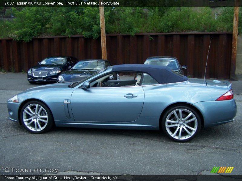 Frost Blue Metallic / Ivory/Slate 2007 Jaguar XK XK8 Convertible