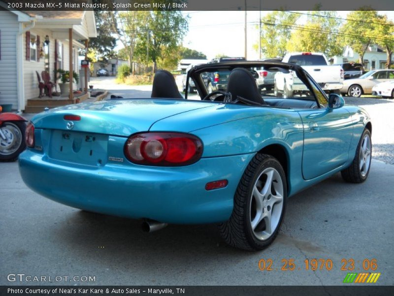 Splash Green Mica / Black 2003 Mazda MX-5 Miata Roadster