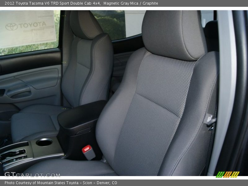 Magnetic Gray Mica / Graphite 2012 Toyota Tacoma V6 TRD Sport Double Cab 4x4