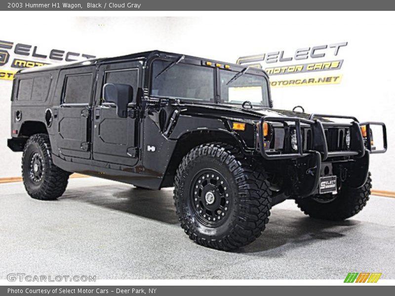 Black / Cloud Gray 2003 Hummer H1 Wagon