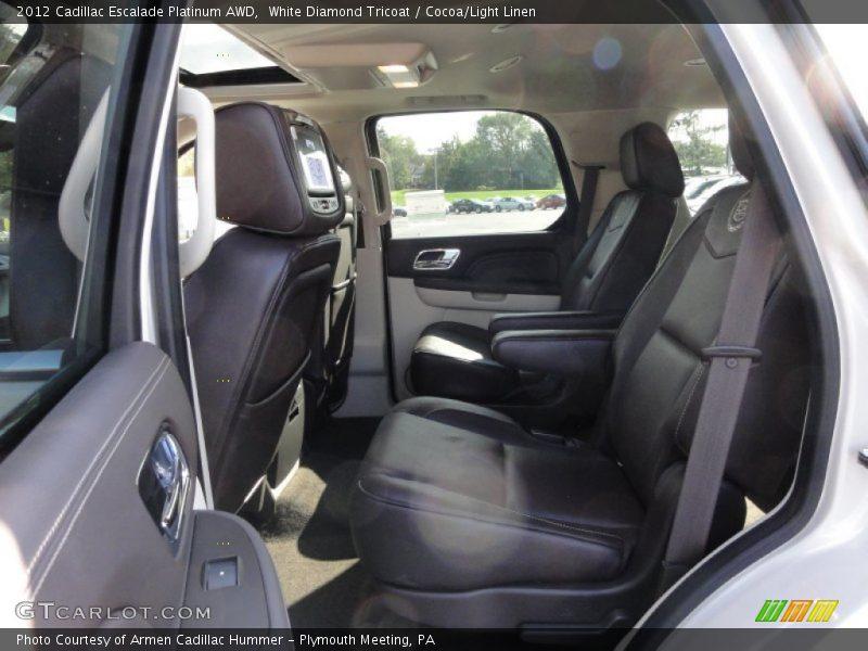 2012 Escalade Platinum AWD Cocoa/Light Linen Interior