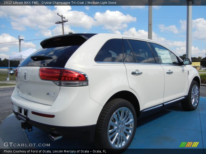 Crystal Champagne Tri-Coat / Medium Light Stone 2012 Lincoln MKX FWD