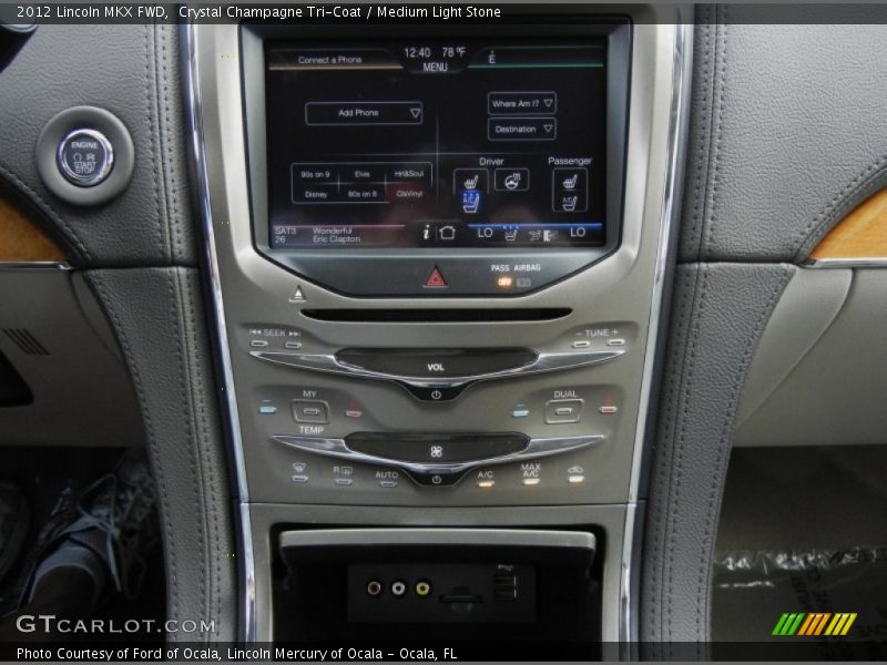 Controls of 2012 MKX FWD