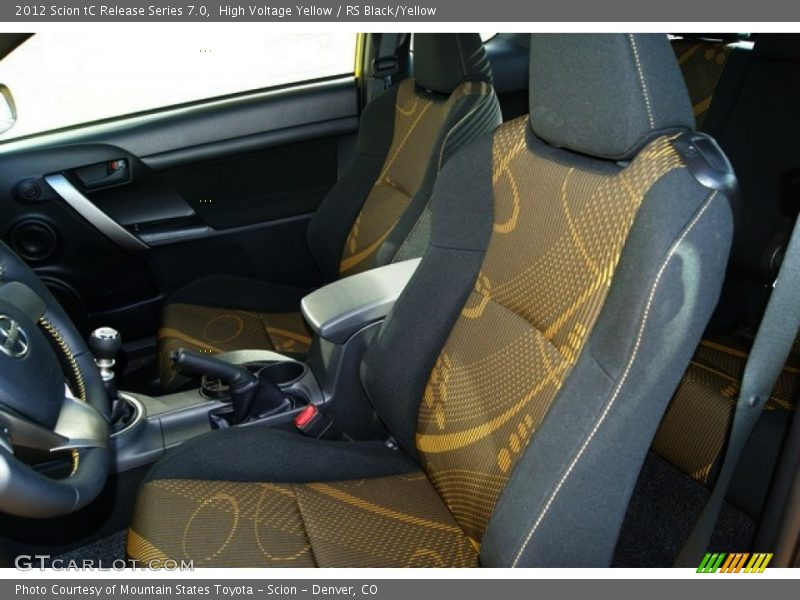 2012 tC Release Series 7.0 RS Black/Yellow Interior